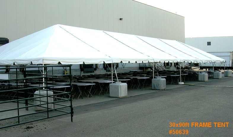 30by90ft frame tent rental 50639