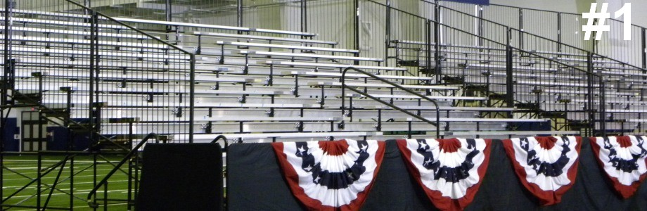 bleacher rentals grandstand rentals 1 Large Bleachers 9 rows or higher portable Grandstand Rentals