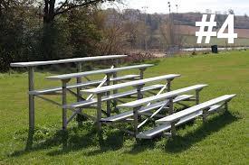 bleacher rentals grandstand rentals 4 Portable 3 to 7 row high Bleacher Rentals