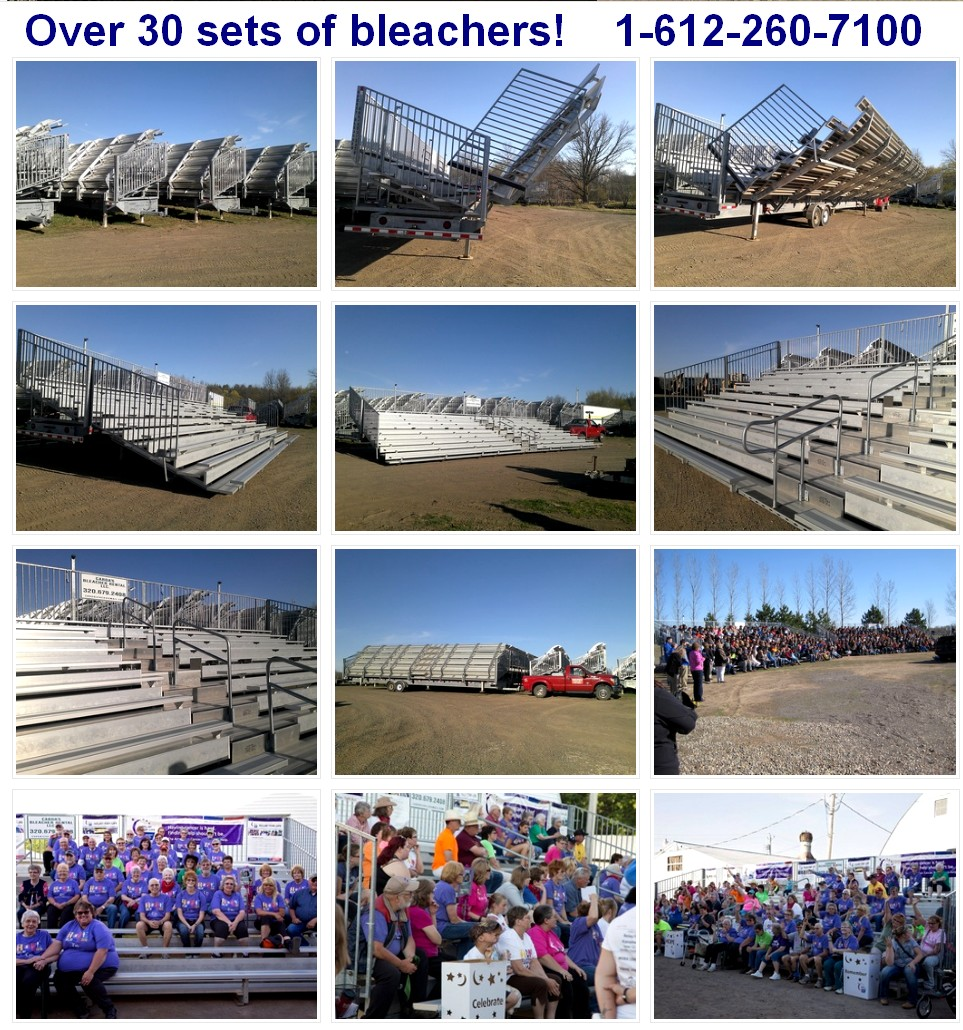bleacher rentals minneapolis MN WI ND SD IA