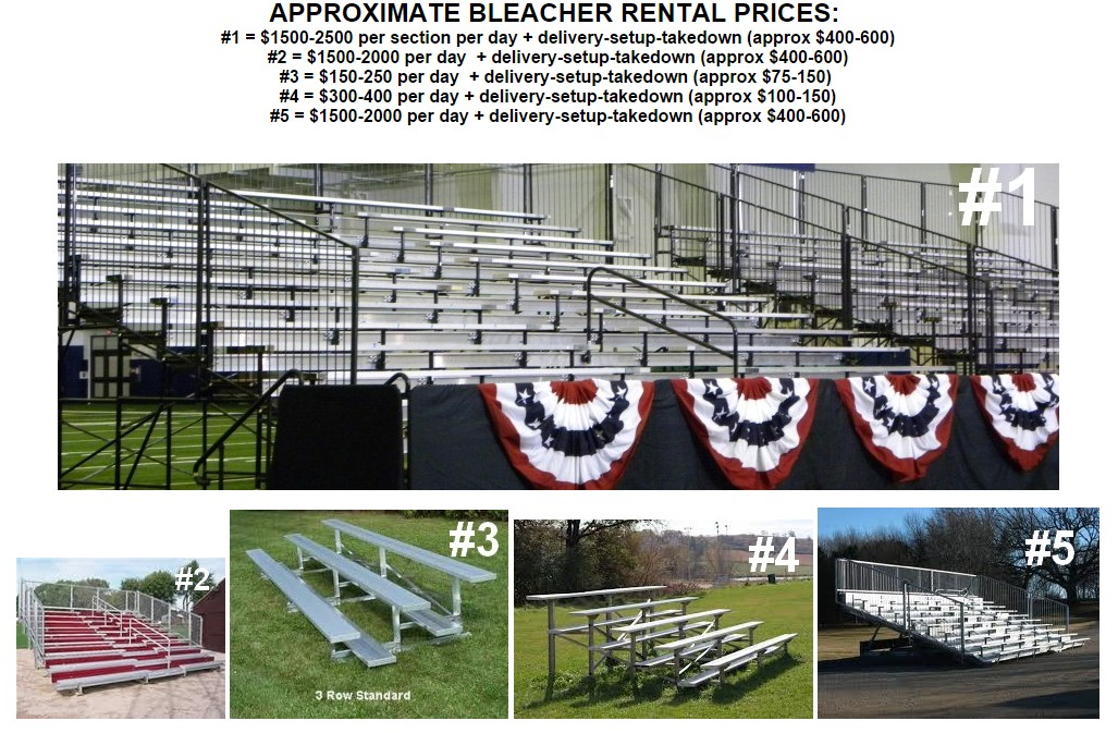 bleacher rentals variety of sizes 1