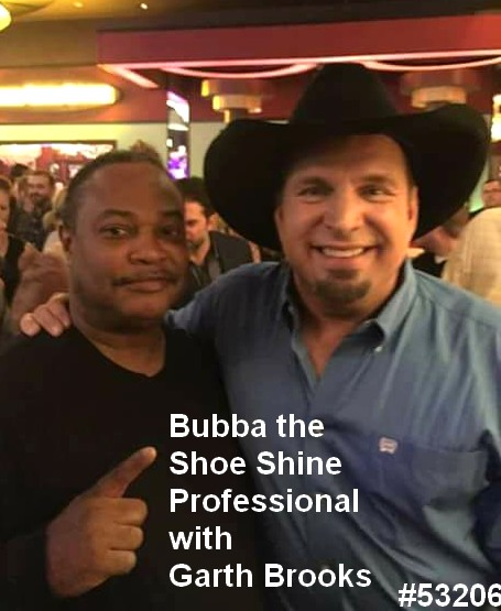 bubba the shoe shine professional with garth brooks public event nashville tennessee