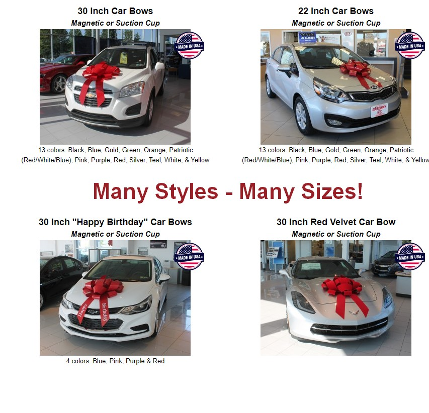 car bows holiday bows new car bow 35582
