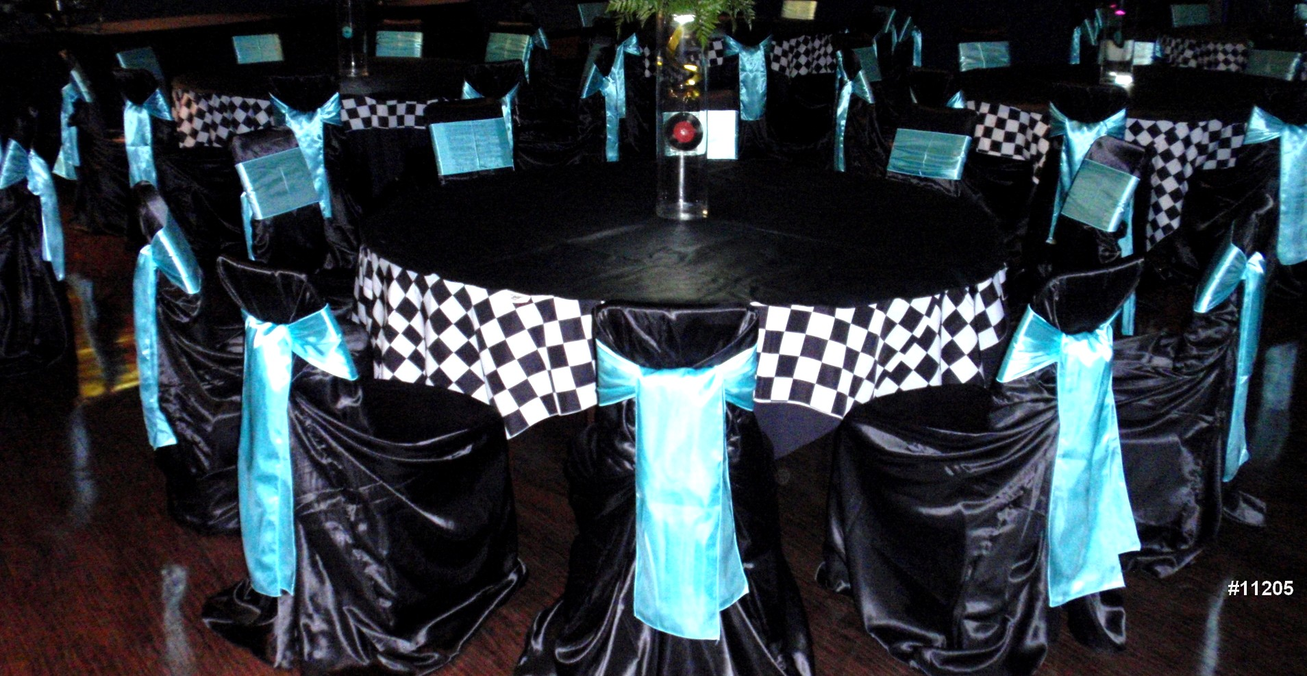 DC chair cover rentals black theme color 11205 Chair cover rentals