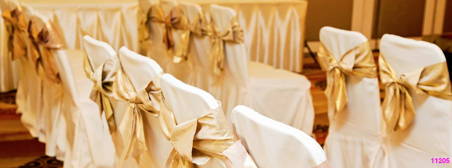 Colorado chair cover rentals gold theme color 11205 Chair cover rentals