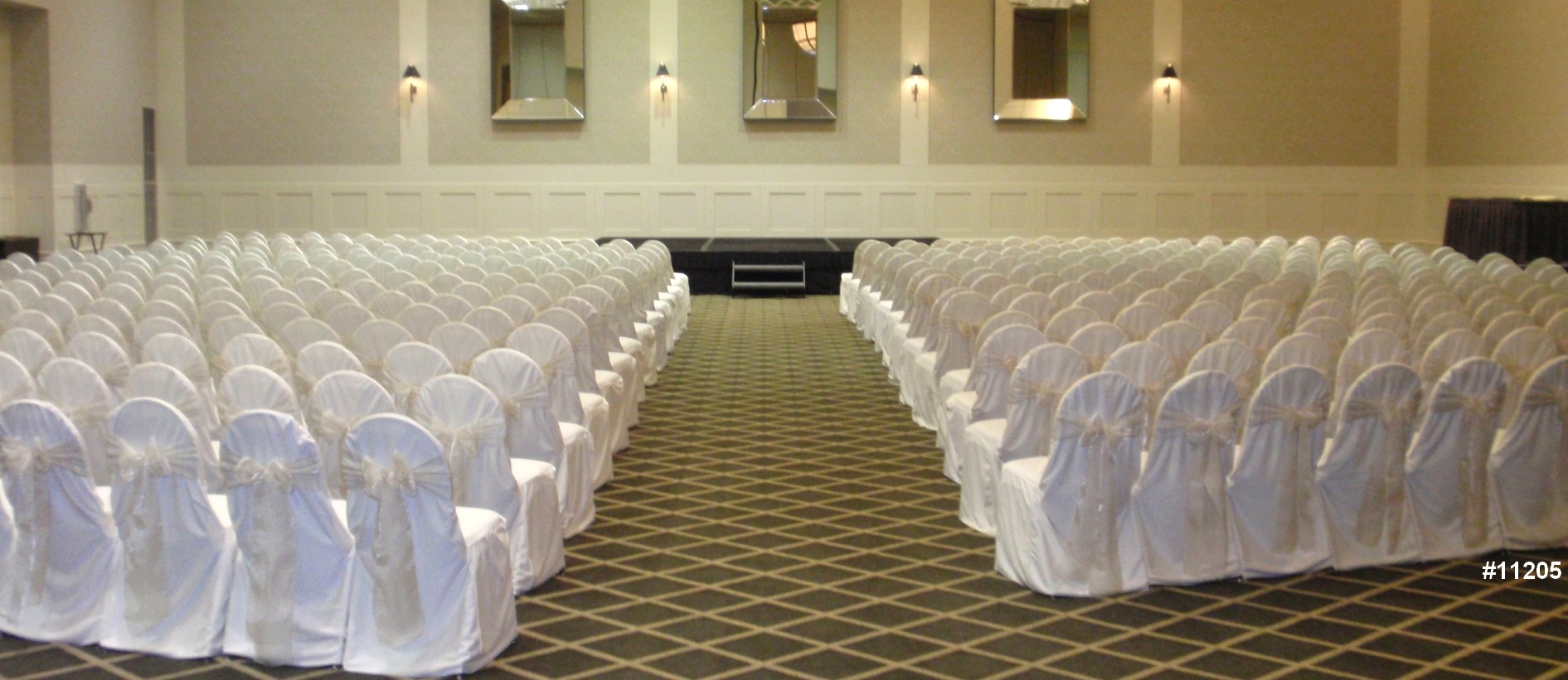 DC chair cover rentals wedding white theme color 11205 Chair cover rentals
