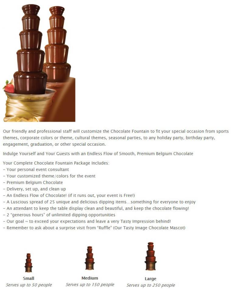 chocolate fountain rentals chocolate fountain rental wedding corporate events
