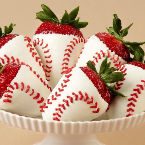 chocolate strawberries chocolate strawberry baseballs