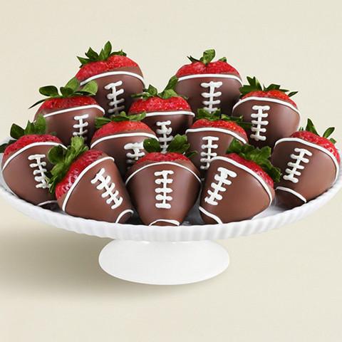chocolate strawberries chocolate strawberry footballs