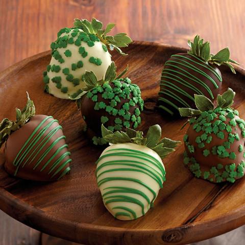 chocolate strawberries chocolate strawberry st patricks day