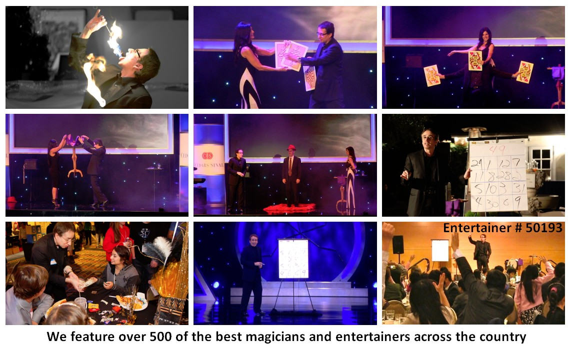 corporate entertainer magician show photos
