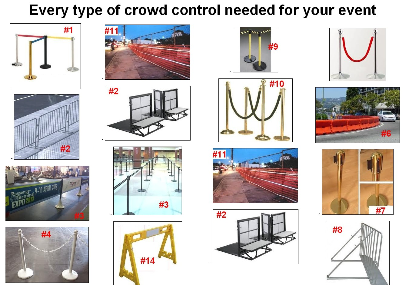 crowd control barriers all types ribbon bike rack metal plastic
