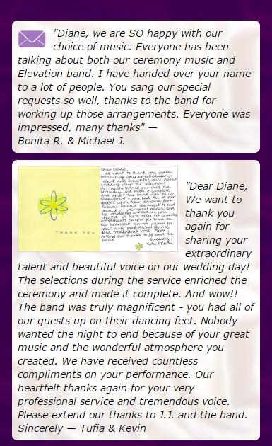 diane martinson music testimonials shows
