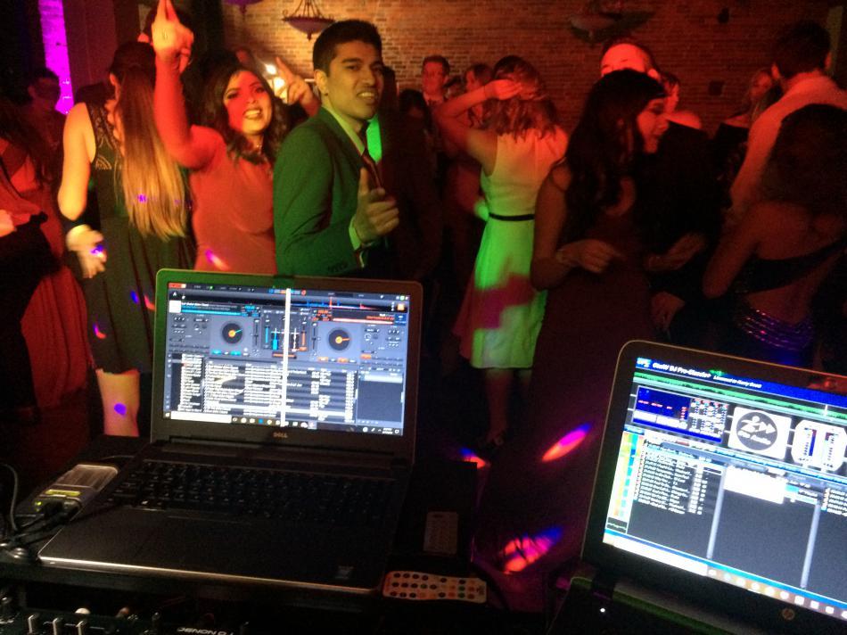 dj and everyone dancing wedding