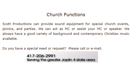 dj info for church events church events