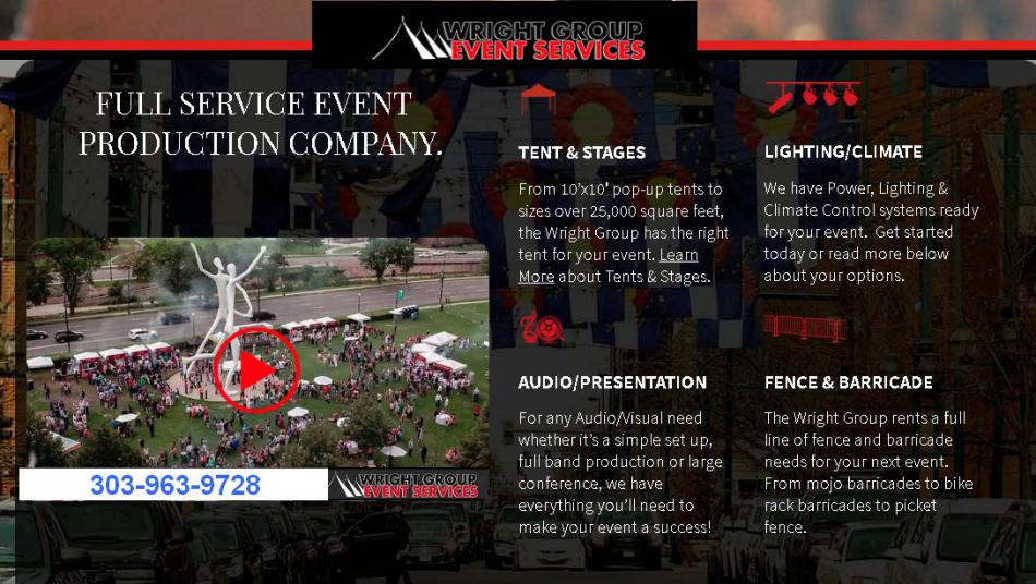 event production services denver colorado