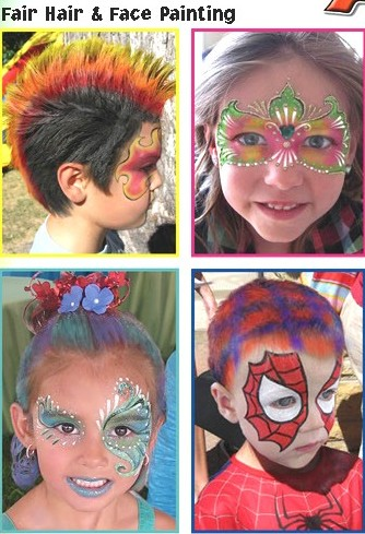 face painting hair painting kids