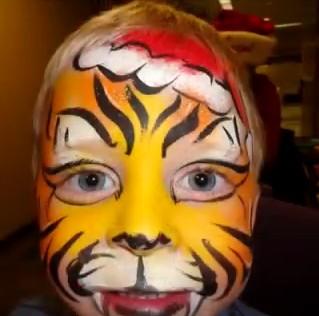 face painting hair painting kids animal 314