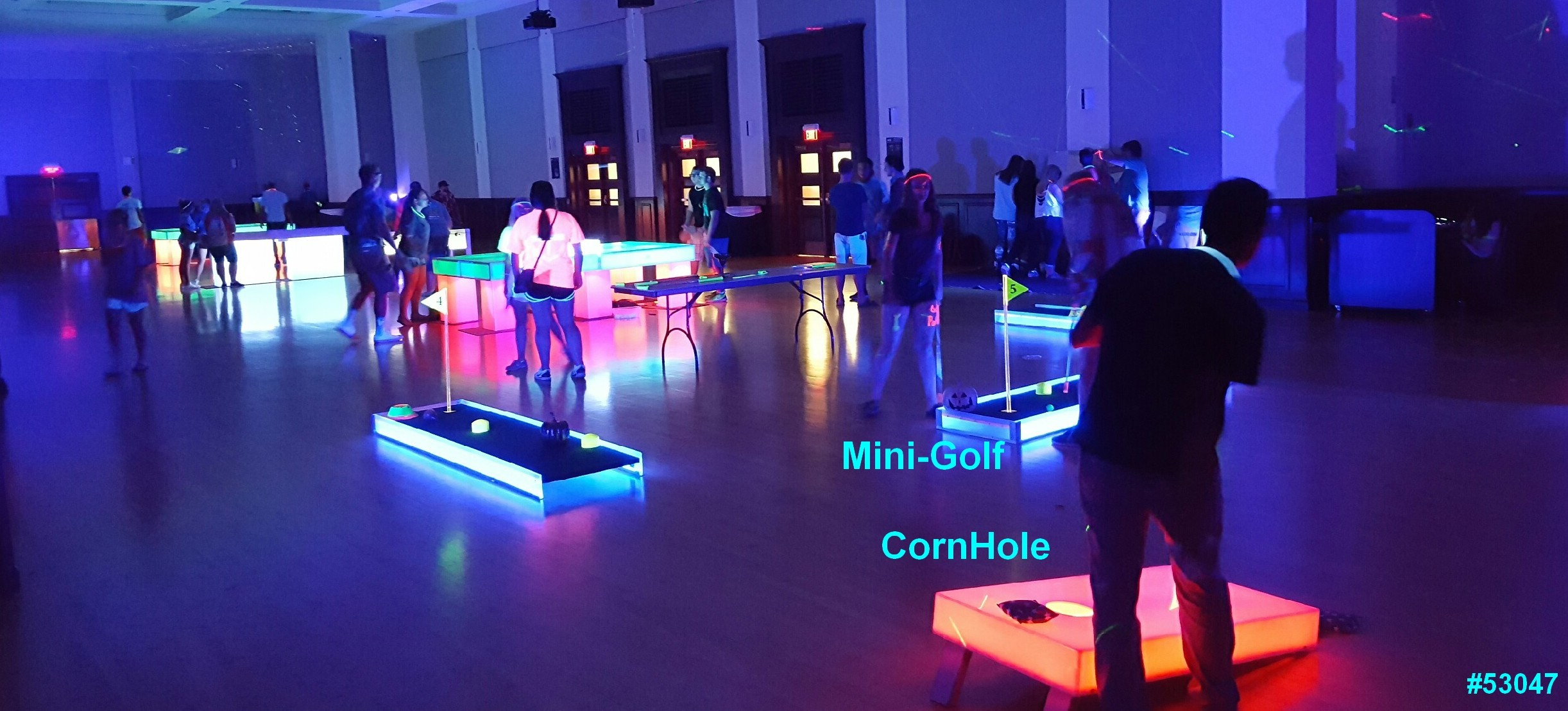 glow games cornhole mini golf glow in the dark rentals 53047 Glow Games