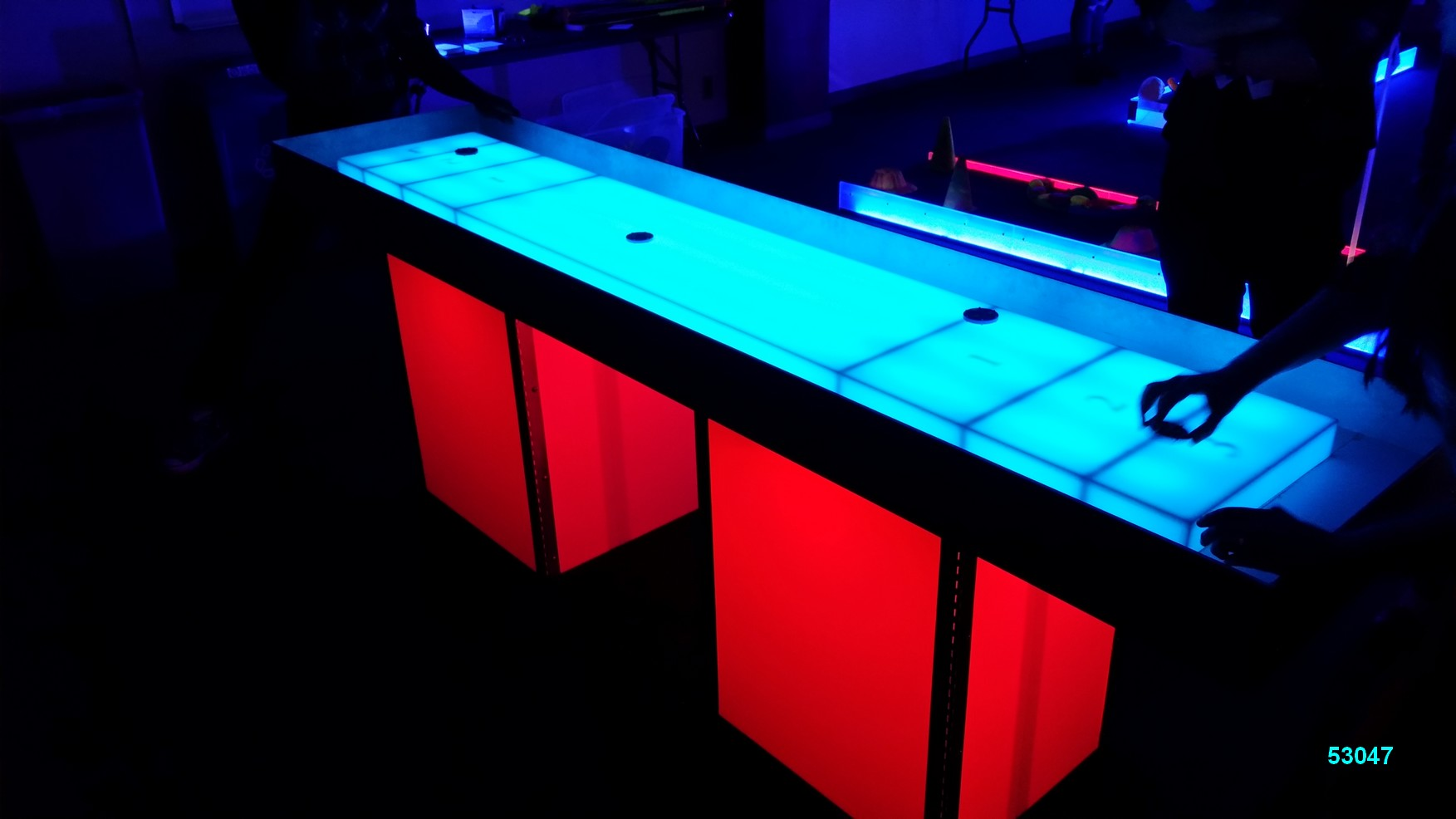 glow games shuffleboard red glow in the dark rentals 53047 Glow Games