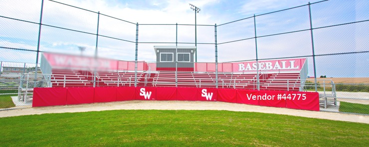 Wyoming grandstand and stadium installation baseball fieldseating 44775 Grandstand Seating Companies
