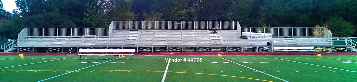 Wyoming grandstand and stadium installation raised seating 44775 Grandstand Seating Companies