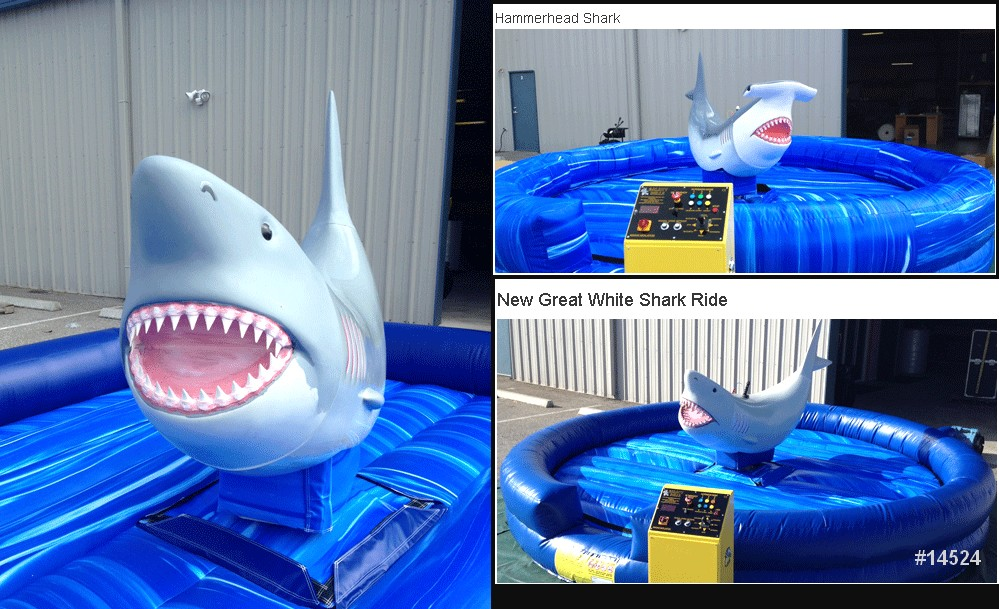great white shark ride rental mechanical ride 14524
