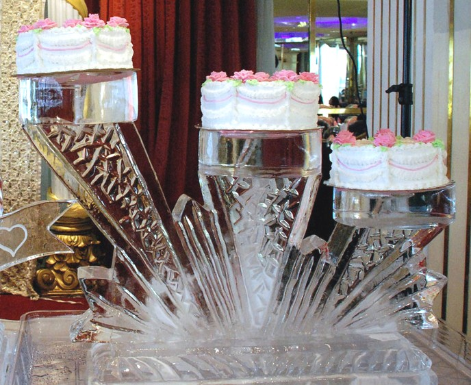 Ice Sculptures Sculpture Carving Wedding Birthday Tiered Cake Jacksonville Florida