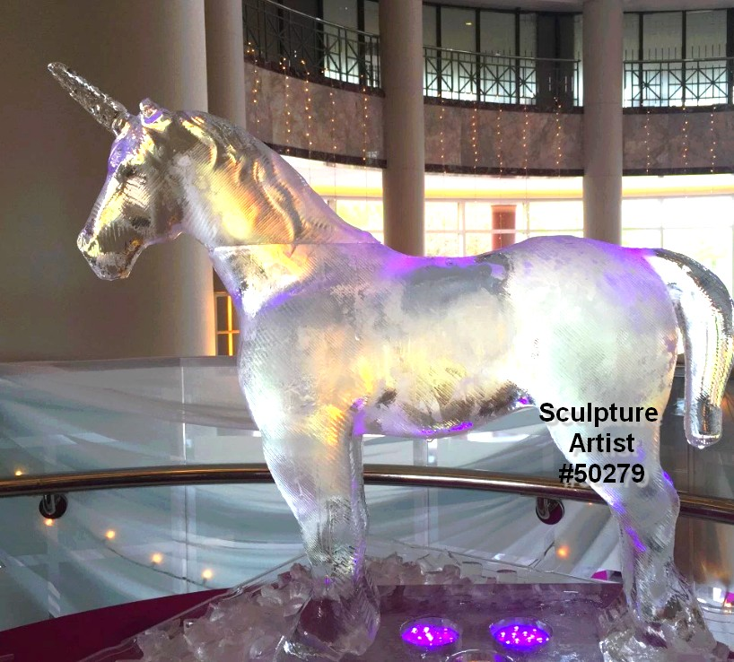ice unicorn sculpture high resolution designs 50279