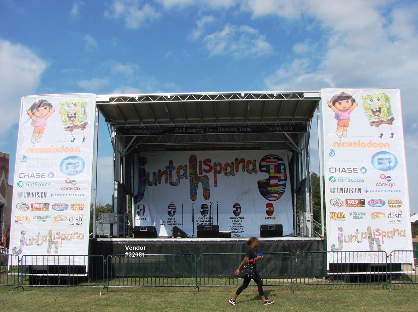 large concert mobile stage rental