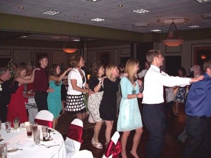 mark dj detroit toledo ann arbor wedding people have a great time conga line dancing