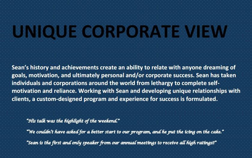 motivational speaker corporate