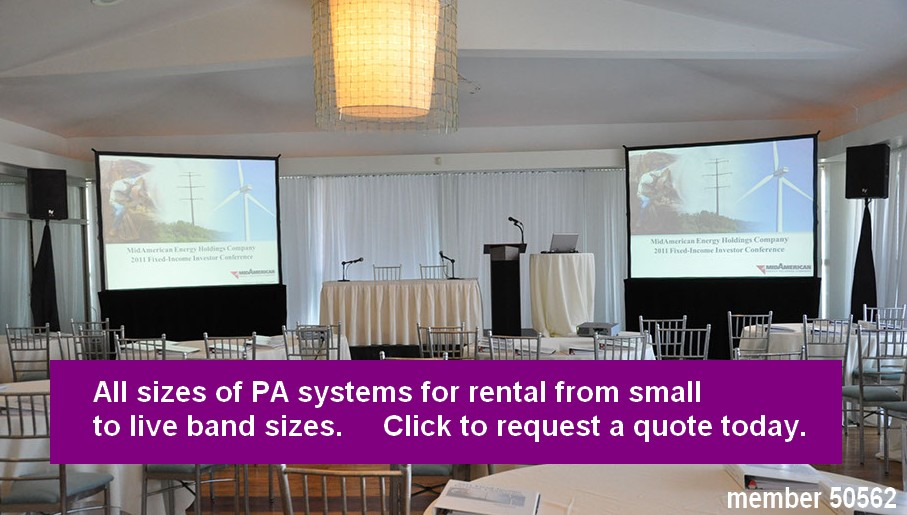 pa system rentals large and small 50562