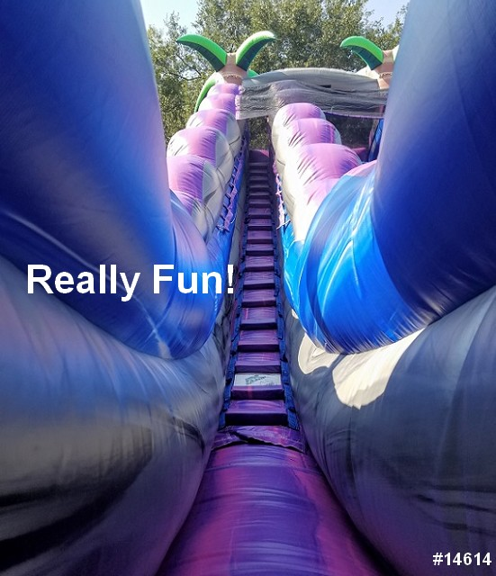 paradise water slide rental really fun 14614