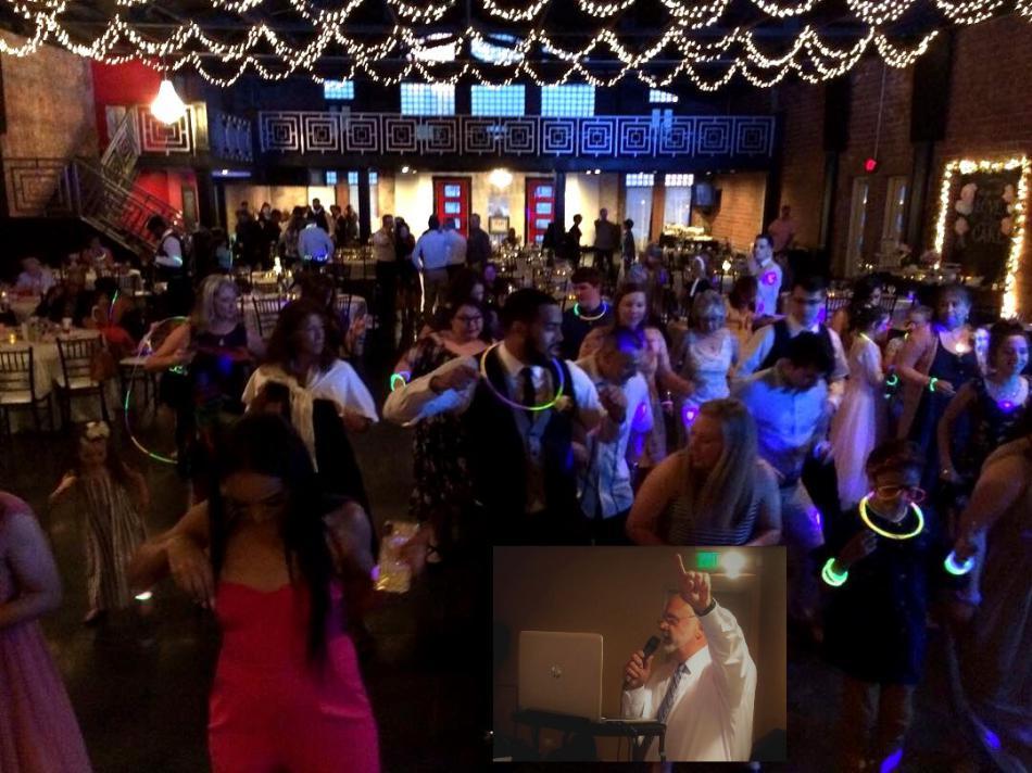 people dancing to a dj fun event