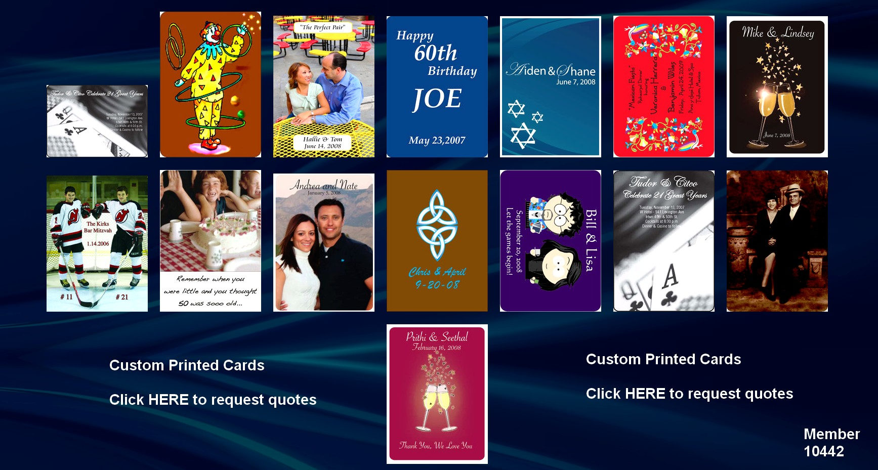 personalized custom printed playing cards for sale