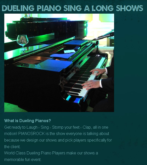 piano player dueling piano show entertainment nationwide usa