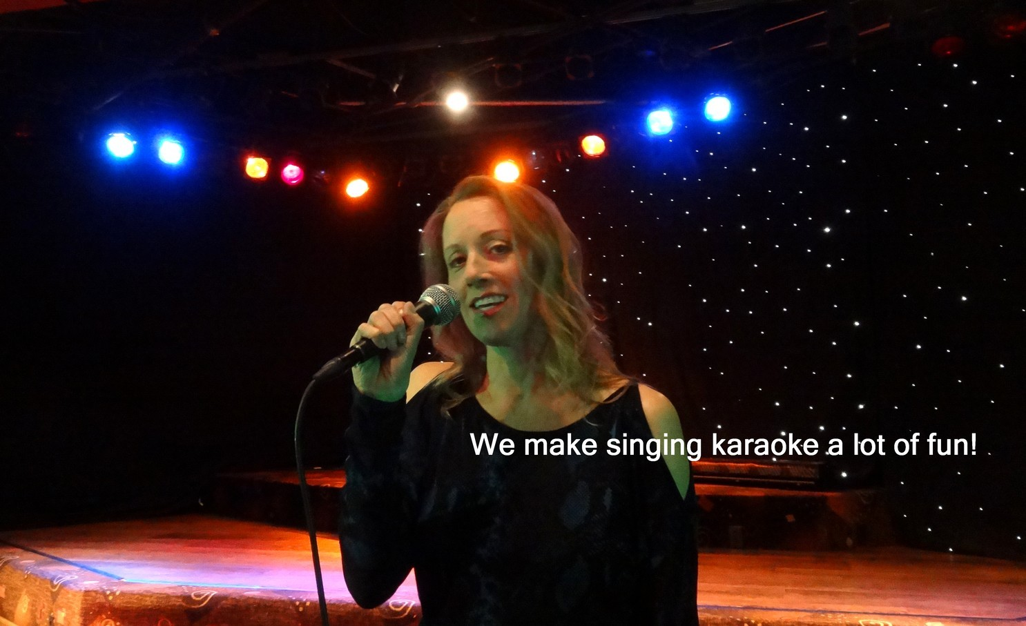 really enjoy singing karaoke with our shows