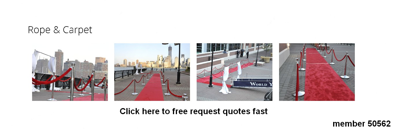 red ropes stanchion rentals hollywood theme carpet rental 50562