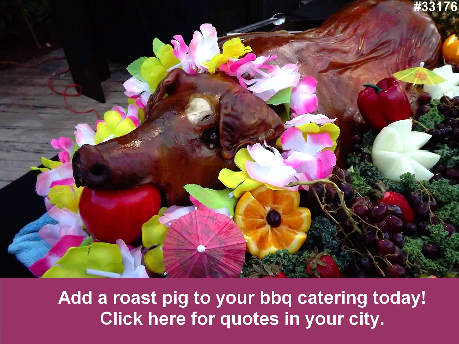 roast pig bbq catering corporate weddings 33176