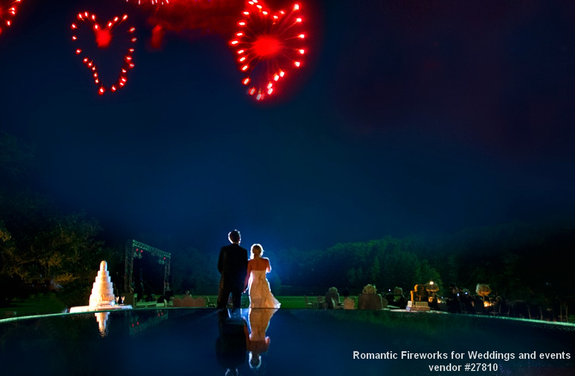 romantic hearts fireworks wedding displays pyro weddings 27810