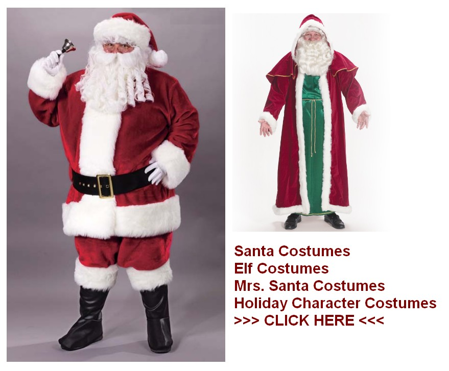 santa costumes holiday costumes Santa Costumes for sale