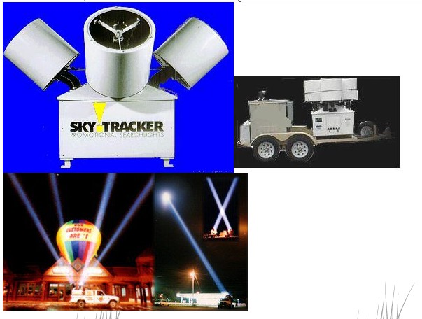 skytracker searchlights nc 26068