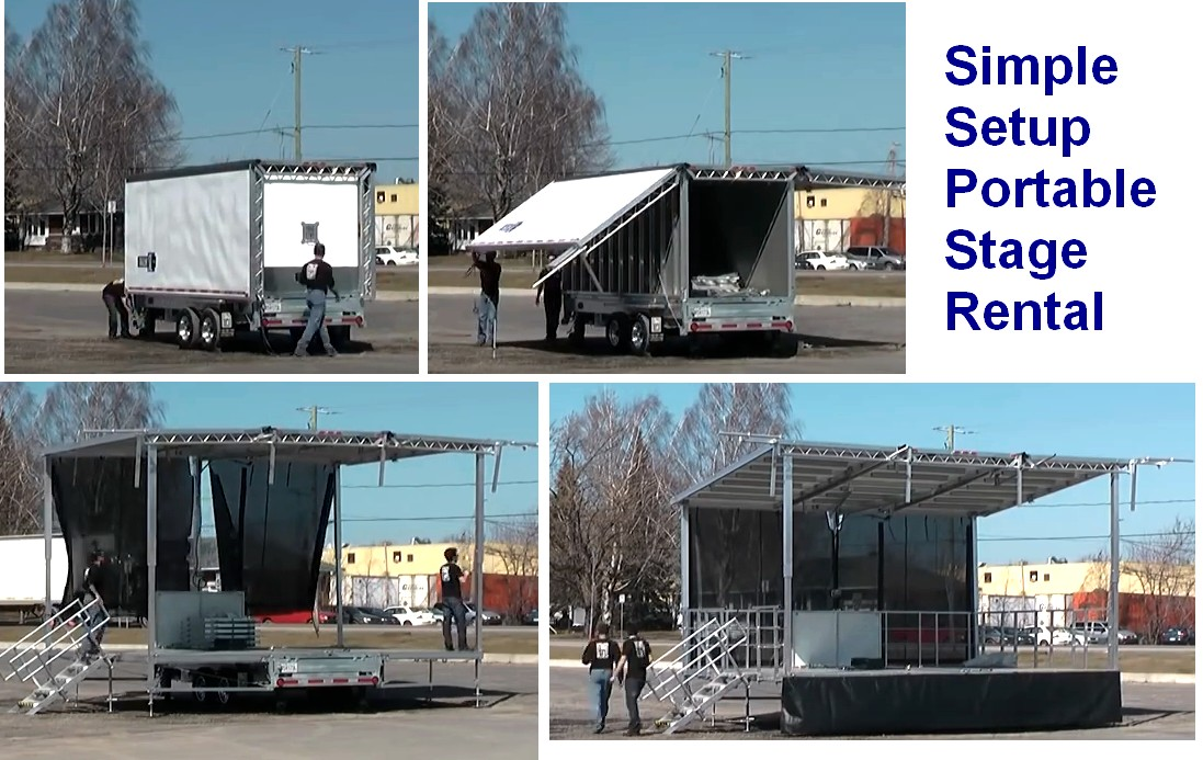 sl50 stage rental with trailer mobile