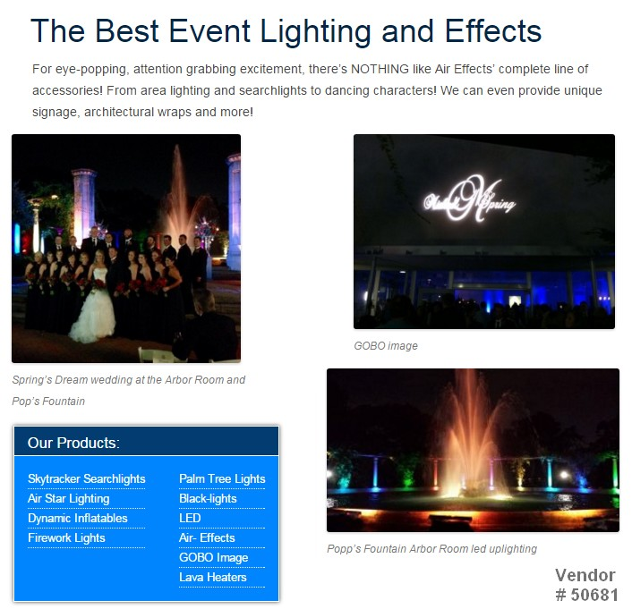 special effects lighting searchlights lasers