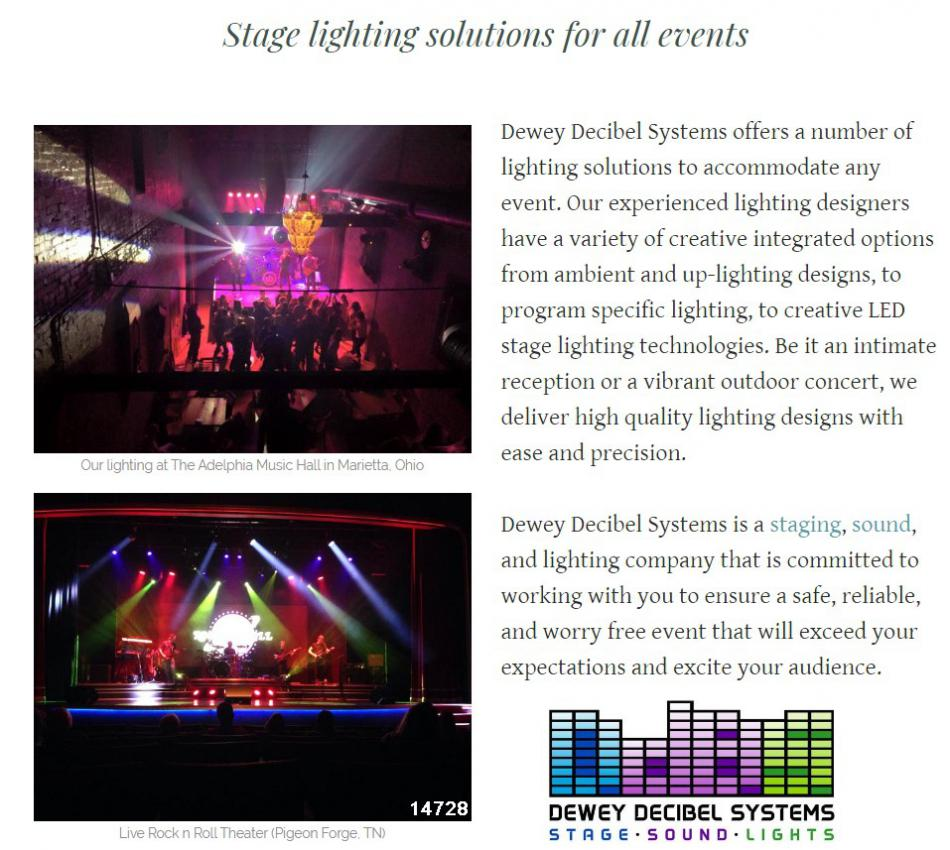 stage lighting rental concert lighting corporate event