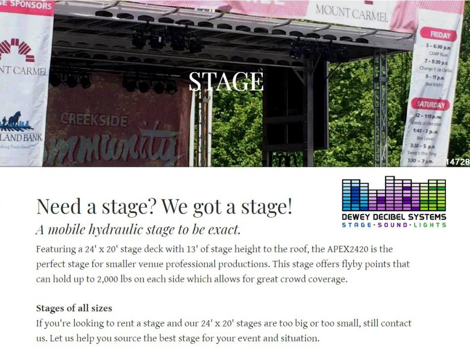 stage rentals large mobile outdoor festival