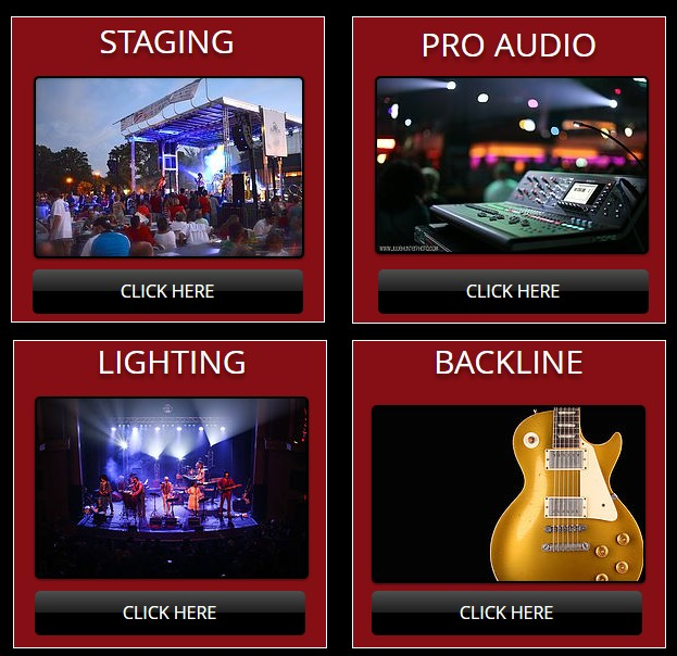 staging pro audio lighting backline georgia florida tennessee north carolina south carolina