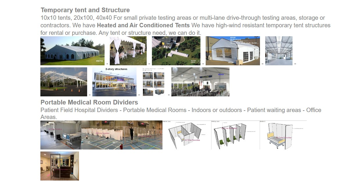tent structures rentals purchase medical dividers3