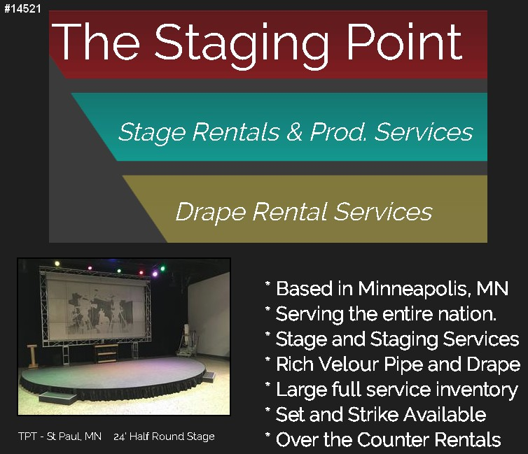the staging point pipe staging drape rentals mn